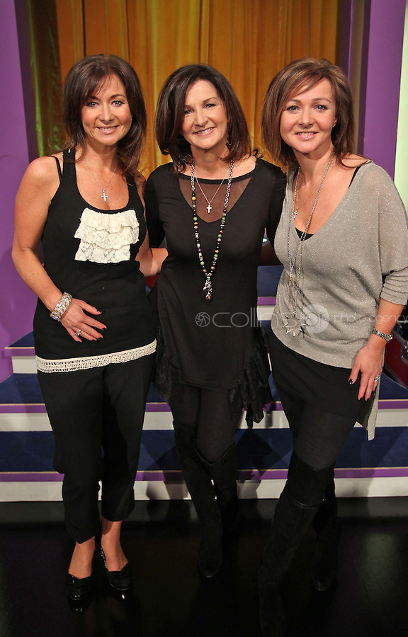 10/02/'11 Pictured this afternoon at RTE Studios are The Vard Sisters, one of the five acts which make up this years hopefulls for Ireland's entry to the Eurosong 2011 Contest. The five acts will perform on tomorrow night's Late Late show ..Picture Colin Keegan, Collins, Dublin.