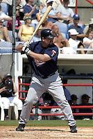 March 29, 2004:  Matt LeCroy of the Minnesota Twins organization during Spring Training at Dunedin Stadium in Dunedin, FL.  Photo copyright Mike Janes/Four Seam Images