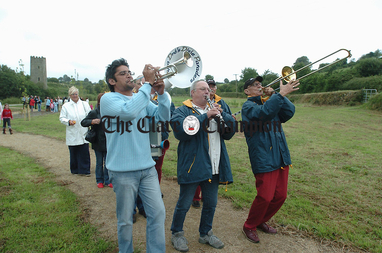 Members of Papa Dre's Dixie Paraders performing at the joint official openings of Scariff Harbour Festival and Scariff Riverside park. Photograph by John Kelly.