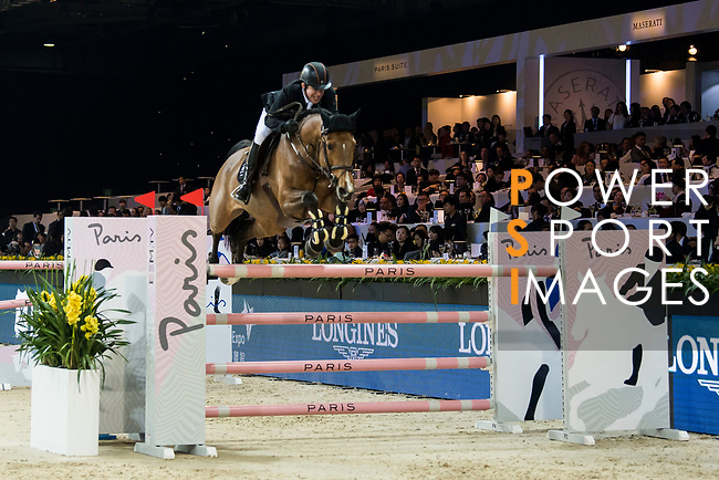 Gerco Schroder of The Netherlands riding Glock's Debalia competes in the Longines Speed Challenge during the Longines Masters of Hong Kong at AsiaWorld-Expo on 10 February 2018, in Hong Kong, Hong Kong. Photo by Diego Gonzalez / Power Sport Images