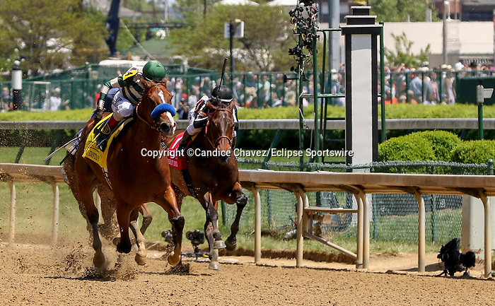 May 1, 2021 : Gamine, #4, ridden by jockey John Velazquez, wins the Derby City Distaff on Kentucky Derby Day at Churchill Downs on May 1, 2021 in Louisville, Kentucky. Candice Chavez/Eclipse Sportswire/CSM