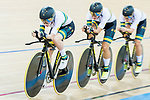 The team of Australia with Amy Cure, Ashlee Ankudinoff, Alexandra Manly and Rebecca Wiasak compete in the Women's Team Pursuit Finals as part of the 2017 UCI Track Cycling World Championships on 13 April 2017, in Hong Kong Velodrome, Hong Kong, China. Photo by Marcio Rodrigo Machado / Power Sport Images