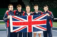 5-4-07, England, Birmingham, Tennis, Daviscup England-Netherlands, Britisch Team