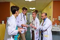 Columbia University Medical Center. Physiicians and Surgeons school students. At Columbia Presbyterian Hospital