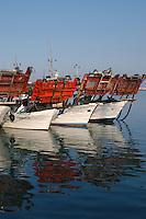 Pescherecci nel porto di Giulianova. Fishing boats in port of Giulianova....