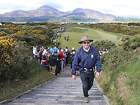 Thursday 28 May 2015; Wayne Rilley walks onto the 14th tee box<br /> <br /> Dubai Duty Free Irish Open Golf Championship 2015, Round 1 County Down Golf Club, Co. Down. Picture credit: John Dickson / SPORTSFILE