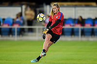 San Jose, CA - Sunday November 12, 2017: Alyssa Naeher during an International friendly match between the Women's National teams of the United States (USA) and Canada (CAN) at Avaya Stadium.