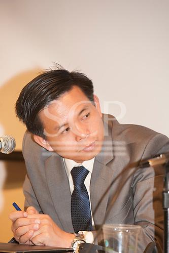 Washington DC, USA. Chico Vive conference, 4th April 2014. Conference speaker Tek Vannara, Cambodia.
