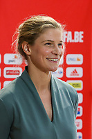 Belgium's midfielder Justine Vanhaevermaet pictured during an interview at after the qualifying group stage draw for FIFA Women's World Cup 2023, at Royal Belgian   . PHOTO: SPORTPIX.BE   SPP   SEVIL OKTEM
