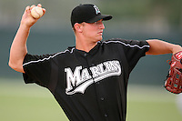 April 14, 2009:  Matt Lokken of the Florida Marlins extended spring training team during a game at Roger Dean Stadium Training Complex in Jupiter, FL.  Photo by:  Mike Janes/Four Seam Images
