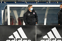 FOXBOROUGH, MA - OCTOBER 16: Eric Quill head coach of North Texas SC during a game between North Texas SC and New England Revolution II at Gillette Stadium on October 16, 2020 in Foxborough, Massachusetts.