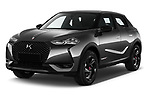 2021 Ds DS-3-Crossback Performance-Line 5 Door SUV Angular Front automotive stock photos of front three quarter view