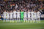 Real Madrid team before the match Real Madrid vs Napoli, part of the 2016-17 UEFA Champions League Round of 16 at the Santiago Bernabeu Stadium on 15 February 2017 in Madrid, Spain. Photo by Diego Gonzalez Souto / Power Sport Images