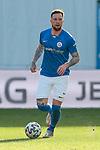 20.02.2021, xtgx, Fussball 3. Liga, FC Hansa Rostock - SV Waldhof Mannheim, v.l. Jan Loehmannsroeben (Hansa Rostock, 24) Freisteller, Einzelbild, Ganzkoerper, single frame <br /> <br /> (DFL/DFB REGULATIONS PROHIBIT ANY USE OF PHOTOGRAPHS as IMAGE SEQUENCES and/or QUASI-VIDEO)<br /> <br /> Foto © PIX-Sportfotos *** Foto ist honorarpflichtig! *** Auf Anfrage in hoeherer Qualitaet/Aufloesung. Belegexemplar erbeten. Veroeffentlichung ausschliesslich fuer journalistisch-publizistische Zwecke. For editorial use only.