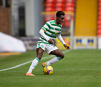 22nd August 2020; Tannadice Park, Dundee, Scotland; Scottish Premiership Football, Dundee United versus Celtic; Jeremie Frimpong of Celtic cuts back on the ball as Celtic move forward