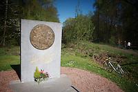 memorial to the late Jean Stablinski: father of the modern (cobbled) Paris-Roubaix <br /> <br /> 2014 Paris - Roubaix reconnaissance