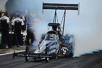 Apr. 27, 2012; Baytown, TX, USA: NHRA top fuel dragster driver J.R. Todd during qualifying for the Spring Nationals at Royal Purple Raceway. Mandatory Credit: Mark J. Rebilas-