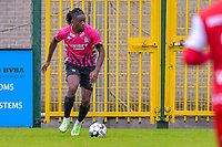 Joris Kayembe (12) of Sporting Charleroi pictured during a friendly soccer game between Zulte Waregem and Sporting Charleroi during the preparations for the 2021-2022 season , on Saturday 10 th of July 2021 in Ingelmunster , Belgium . PHOTO STIJN AUDOOREN   SPORTPIX