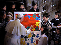 Pope Francis visits Rome's Lutheran church on November 15, 2015.
