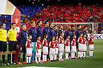 Barcelona´s players before 2014-15 Copa del Rey final match between Barcelona and Athletic de Bilbao at Camp Nou stadium in Barcelona, Spain. May 30, 2015. (ALTERPHOTOS/Victor Blanco)