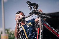big post-race clean-up after the last of the 2018 Spring Classics<br /> <br /> 104th Liège - Bastogne - Liège 2018 (1.UWT)<br /> 1 Day Race: Liège - Ans (258km)