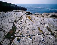 The rocky shoreline on Little Moose Island on Schoodic Peninsula; Acadia National Park, ME
