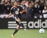 Ethan White (15) of D.C. United  during an MLS match against the Los Angeles Galaxy at RFK Stadium, on April 9 2011, in Washington D.C. The game ended in a 1-1 tie.