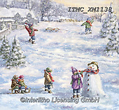 Marcello, CHRISTMAS CHILDREN, WEIHNACHTEN KINDER, NAVIDAD NIÑOS, paintings+++++,ITMCXM1138,#xk# ,playing in snow