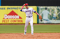 Tennessee Smokies shortstop Andy Weber (7) on defense against the Montgomery Biscuits on May 9, 2021, at Smokies Stadium in Kodak, Tennessee. (Danny Parker/Four Seam Images)