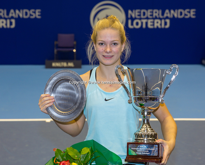 Rotterdam, Netherlands, December 17, 2017, Topsportcentrum, Ned. Loterij NK Tennis, Winner  Wheelchair woman's  final: Dide de Groot (NED  ) <br /> Photo: Tennisimages/Henk Koster