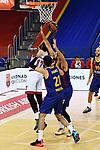 Turkish Airlines Euroleague 2020/2021. <br /> Regular Season-Round 9.<br /> FC Barcelona vs Olympiacos Piraeus: 88-96.<br /> Livio Jean-Charles, Alex Abrines & Nicola Mirotic.