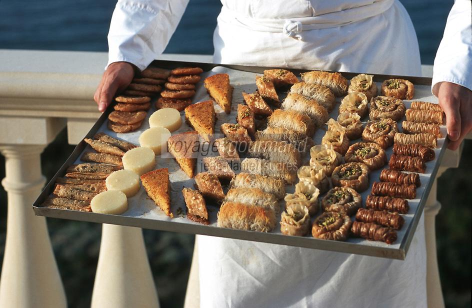 """Europe/Chypre/Env de Polis: Desserts chypriotes de """"l'Anassa Hotel"""""""