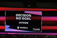VAR Off side during West Ham United vs Aston Villa, Premier League Football at The London Stadium on 30th November 2020