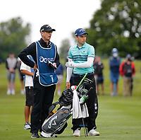 3rd July 2021; Mount Juliet Golf Club, Kilkenny, Ireland; Dubai Duty Free Irish Open Golf, Day Three; Matthew Jordan of England gets ready to take his second shot on the 2nd fairway