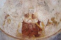 Europe/France/Midi-Pyrénées/46/Lot/Vallée du Lot/Env Puy-l'Evèque/Martignac: L'église - Peintures murales XVème - Christ en majesté