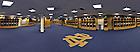 Panoramic view of the Football locker room in Notre Dame Stadium...Photo by Matt Cashore/University of Notre Dame