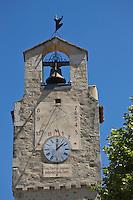 Europe/France/Rhône-Alpes/26/Drôme/Dieulefit: la tour de l'horloge avec son cadran solaire