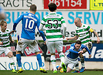 St Johnstone v Celtic…05.02.17     SPFL    McDiarmid Park<br />Scott Brown brings down Danny Swanson in the penalty box but no penalty was awarded<br />Picture by Graeme Hart.<br />Copyright Perthshire Picture Agency<br />Tel: 01738 623350  Mobile: 07990 594431