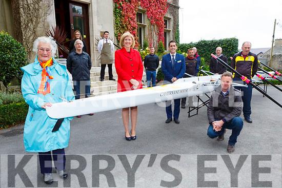 Eimer Corridan presents the Muckross Rowing club a new boat at the Cahernane House Hotel Killarney on Sunday front l-r: Kathleen Murphy, Eimer Corridan, David O'Brien, Sean DAly Chairman MRC and Sean Daly