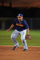 Isaac Muniz (53), from Pecos, Texas, while playing for the Astros during the Under Armour Baseball Factory Recruiting Classic at Gene Autry Park on December 27, 2017 in Mesa, Arizona. (Zachary Lucy/Four Seam Images)