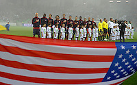 Team USA at the Anthem before the friendly match Slovenia against USA at the Stozice Stadium in Ljubljana, Slovenia on November 15th, 2011.