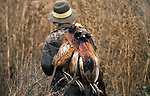Game Bird Shoot 1985 UK. Shooting Pheasants game bird shoot Burley on the Hill Rutland Leicestershire 1980s