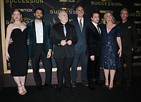 """October 12, 2021.Sarah Snook, Arian Moayed, Brian Cox, Jesse Armstrong, Kieran Culkin, ,J. Smith-Cameron, Alan Ruck attend HBO's """"Succession"""" Season 3 Premiere at the  American Museum of Natural History in New York October 12, 2021 Credit: RW/MediaPunch"""