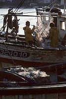 Europe/France/Bretagne/56/Morbihan/Belle-île/Sauzon: Pêcheurs sur le port