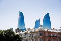 3rd June 2021; Baku, Azerbaijan;  landscape during the Formula 1 Azerbaijan Grand Prix 2021 at the Baku City Circuit, in Baku, Azerbaijan