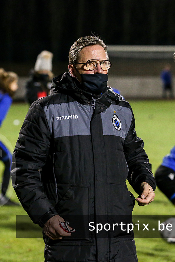 Team delegue Franky Dreypondt of Club Brugge pictured before a female soccer game between FC Femina White Star Woluwe and Club Brugge YLA on the eleventh matchday of the 2020 - 2021 season of Belgian Scooore Womens Super League , Friday 22 January 2021  in Woluwe , Belgium . PHOTO SPORTPIX.BE   SPP   SEVIL OKTEM