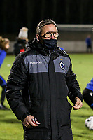 Team delegue Franky Dreypondt of Club Brugge pictured before a female soccer game between FC Femina White Star Woluwe and Club Brugge YLA on the eleventh matchday of the 2020 - 2021 season of Belgian Scooore Womens Super League , Friday 22 January 2021  in Woluwe , Belgium . PHOTO SPORTPIX.BE | SPP | SEVIL OKTEM