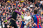 FC Barcelona's Marc-Andre Ter Stegen, Real Madrid's Cristiano Ronaldo during spanish La Liga match between Futbol Club Barcelona and Real Madrid  at Camp Nou Stadium in Barcelona , Spain. Decembe r03, 2016. (ALTERPHOTOS/Rodrigo Jimenez)