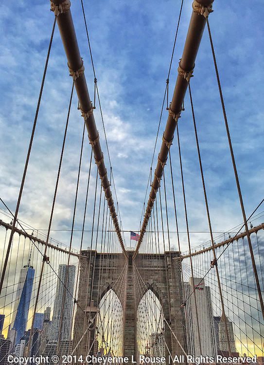 Brooklyn Bridge - New York City (iPhone 6)<br /> NOTE: This photo cannot be printed larger than 16x20 due to the fact that it was shot with an iPhone 6. I have other Brooklyn Bridge photos in this collection that can be printed to very large sizes.