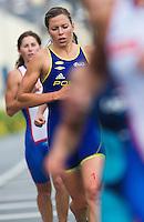 17 SEP 2011 - LA BAULE, FRA - Berengere Abraham (Poissy Triathlon) - final round of the women's French Grand Prix Series at the Triathlon Audencia in La Baule, France (PHOTO (C) NIGEL FARROW)